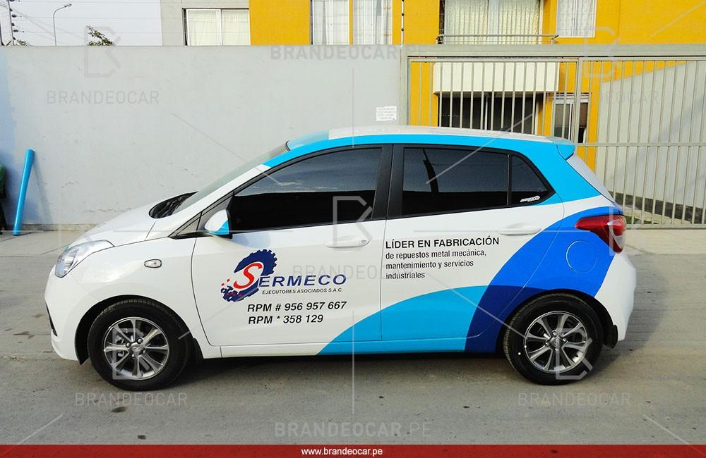 Sermeco - Brandeocar - publicidad en autos