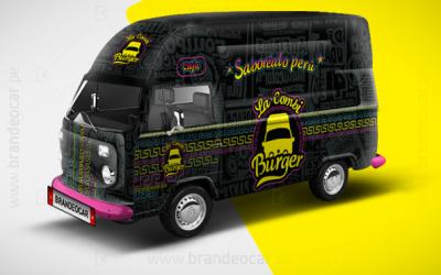 #brandeocar #Lacombiburguer #Branding #truck #Rotulacion #hamburguesas #foodtrucksdelperu