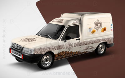 food truck KAMAK - publicidad food truck lima peru - Brandeocar, food truck KAMAK en lima peru, foodtruck mini van, truck cafe, viniles food truck.